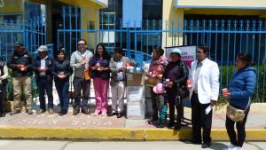 Entrega de medicamentos a Centro de Salud de Antauta (Minsur).